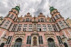Gran edificio del arsenal y x28; Wielka Zbrojownia& x29; - señal en Gdansk, imágenes de archivo libres de regalías