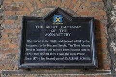 Gran entrada del monasterio en St Albans Imagen de archivo