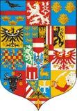 Gran escudo de armas (Austria 1915) Fotografía de archivo libre de regalías