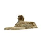 Gran esfinge de Giza en el fondo blanco Foto de archivo libre de regalías