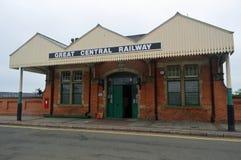 Gran estación ferroviaria central de la central de Loughborough fotografía de archivo libre de regalías
