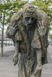 Gran estatua irlandesa del hambre en Dublín, Irlanda Fotografía de archivo libre de regalías