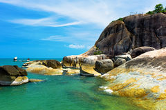 Gran Father and Gran mother rocks in Ko Samui. Thailand Royalty Free Stock Photo