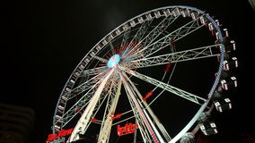 Gran Ferris Wheel In Brussels justo clásico almacen de metraje de vídeo