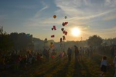 Gran festival popular en campo foto de archivo libre de regalías