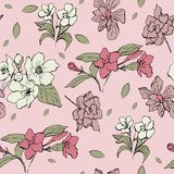 Gran fondo inconsútil floral en vector stock de ilustración