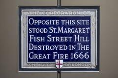 Gran fuego de Londres 1666 Fotografía de archivo libre de regalías