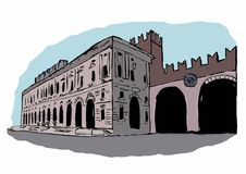 Gran Guardia Palace,Verona Stock Photo