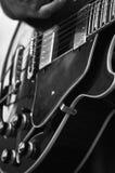 Gran guitarra del jazz Imagen de archivo libre de regalías