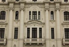 Gran Hotel Bolivar. The facade of the Gran Hotel Bolivar in Lima, Peru royalty free stock photo