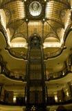 Gran Hotel Ciudad de Mexico. Historic elevator in Gran Hotel Ciudad de Mexico royalty free stock photos