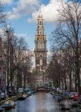 Gran iglesia en Amsterdam, Países Bajos Foto de archivo libre de regalías
