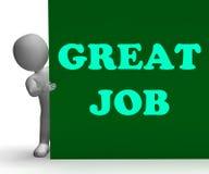Gran Job Sign Means Job Opportunity Imágenes de archivo libres de regalías