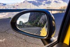 Gran Kanarowa droga w carlustrzani zdjęcie stock