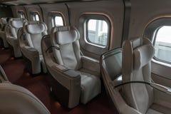 Gran-Klassensitze der Kugel der Reihe E5 (Hochgeschwindigkeits) bilden aus Stockbilder