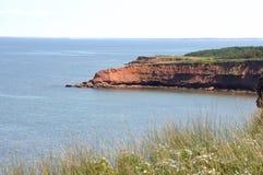 Gran línea de la costa en PEI Imagenes de archivo