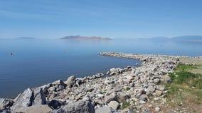 Gran Lago Salato Immagine Stock