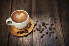 Gran lanzamiento de la taza de café Fotografía de archivo