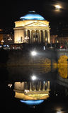 Gran Madre church at night. Gran Madre in Turin, at night, reflecting in the river Po Stock Photography