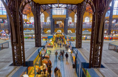 Gran mercado Pasillo, Hungría de Budapest Fotografía de archivo libre de regalías