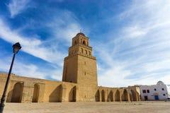 Gran mezquita en Kairouan, T?nez fotografía de archivo libre de regalías