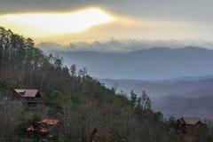 Gran montaña ahumada Foto de archivo libre de regalías