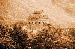 Gran Muralla antigua de China. imagen de archivo libre de regalías