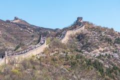 Gran Muralla de Badaling de Pekín en China Foto de archivo libre de regalías