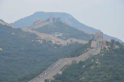 Gran Muralla de China con la gente Imágenes de archivo libres de regalías