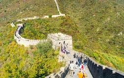 Gran Muralla de China en la caída Imagen de archivo