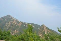 Gran Muralla de China en la distancia Foto de archivo