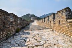 Gran Muralla de China sin los turistas Imágenes de archivo libres de regalías