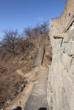 Gran Muralla del mutianyu Pekín del sideview de China Foto de archivo libre de regalías