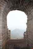 Gran Muralla salvaje Imágenes de archivo libres de regalías