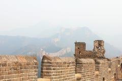 Gran Muralla salvaje Fotos de archivo libres de regalías