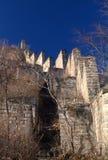 Gran Muralla salvaje de China Foto de archivo