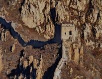 Gran Muralla salvaje de China Fotos de archivo libres de regalías