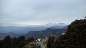 Gran nieve del tungnath del paisaje de Himalaya Foto de archivo