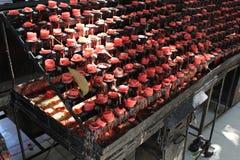 Gran numero di candele d'offerta a Cebu Filippine Fotografia Stock Libera da Diritti