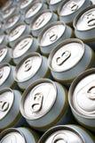 Gran numero di latte di birra Fotografia Stock Libera da Diritti