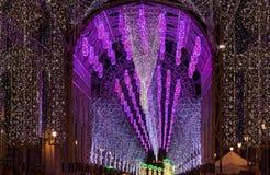 Gran numero di luci nella notte Immagine Stock Libera da Diritti