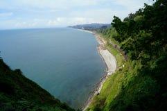 Gran opinión del mar para la montaña Fotos de archivo