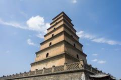 Gran pagoda salvaje del ganso en Xi'an, Shaanxi, China fotografía de archivo libre de regalías