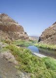 Gran paisaje del camino a John Day Fossil Beds Imagen de archivo