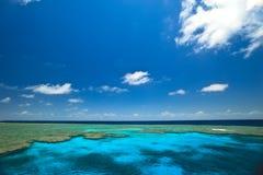 Gran paisaje marino de los jardines de la almeja del filón de barrera Foto de archivo libre de regalías