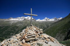 Gran Paradiso - Alps. Great paradise. the alps - they of aosta goes. from the cross arolley Stock Image