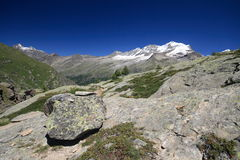 Gran Paradiso - Alps. Great paradise. the alps - they of aosta goes. from the cross arolley Royalty Free Stock Photo