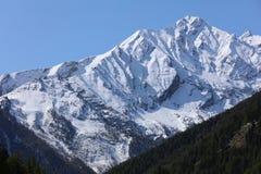 Gran Paradiso Massif from Cogne. Valle D`Aosta Stock Photos