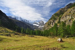 Gran Paradiso national park. Aosta Valley, Italy Royalty Free Stock Photo
