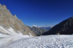Gran Paradiso nationalpark. Aosta dal, Italien Arkivbilder